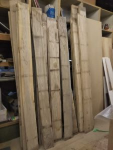 施工事例 無垢の壁面収納飾り棚 円山工芸
