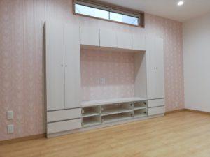 施工事例 テレビボード飾り棚 円山工芸