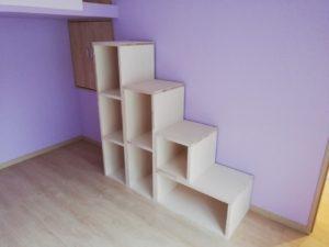 施工事例 子供部屋の階段収納 円山工芸