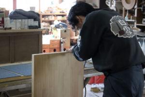 オーダー家具 円山工芸 工房の様子