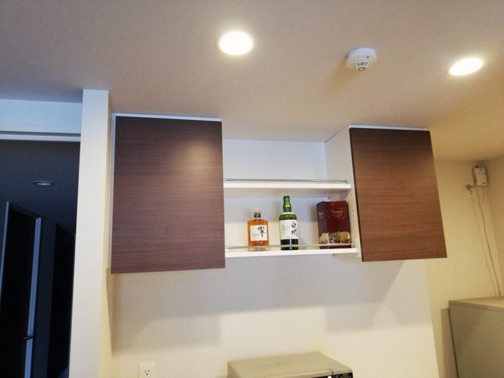 座間市のお客様、KTさまからキッチン収納吊り戸棚のご注文です。オーダー家具円山工芸