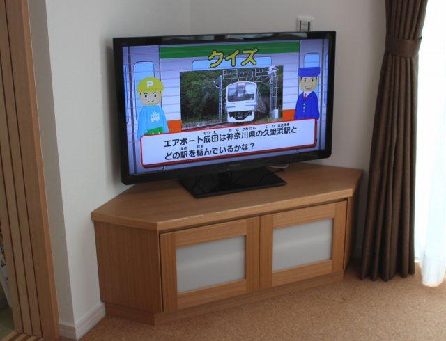 タモで製作のテレビボード