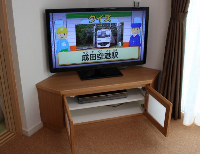 テレビボード設置完了
