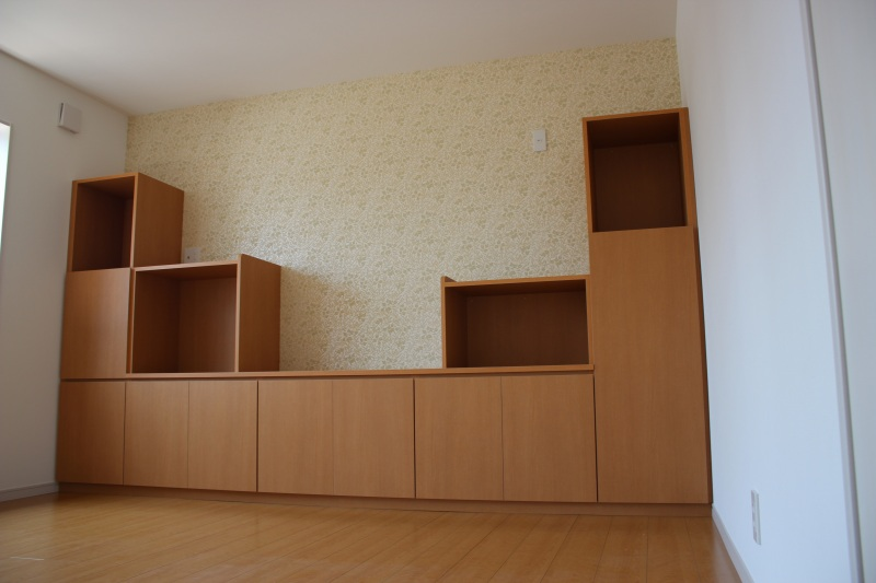 リビング壁面収納飾り棚