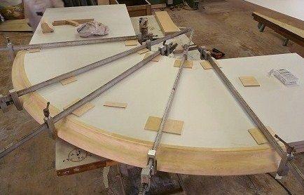 変形のテーブル加工