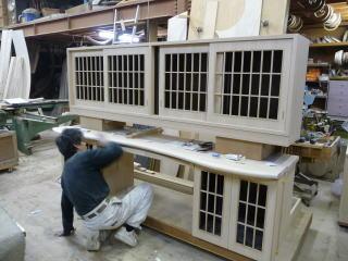 オーダー家具の完成